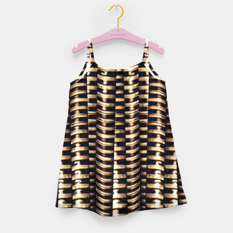 Miniaturka Modern Tech Stripes Print Girl's dress, Live Heroes