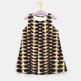 Miniaturka Modern Tech Stripes Print Girl's summer dress, Live Heroes