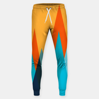 Imagen en miniatura de Ice mountain peaks, captivating sunset, geometric landscape design Sweatpants, Live Heroes
