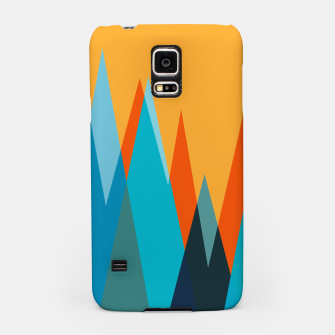 Thumbnail image of Ice mountain peaks, captivating sunset, geometric landscape design Samsung Case, Live Heroes