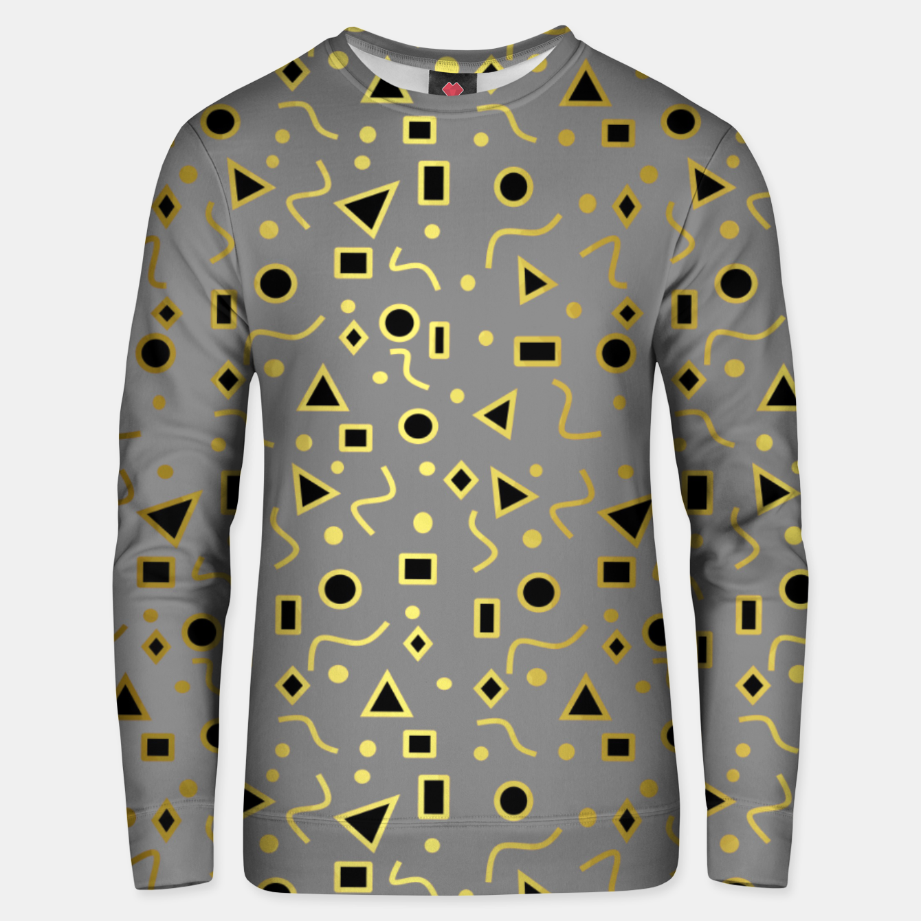 Image of Grey And Black Mod Shapes Unisex sweater - Live Heroes
