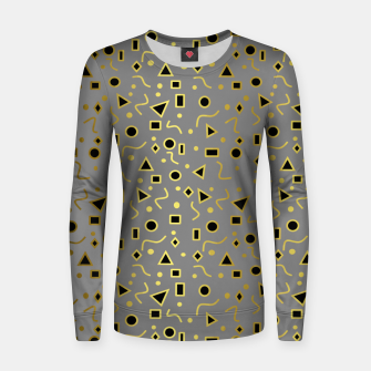 Thumbnail image of Grey And Black Mod Shapes Women sweater, Live Heroes