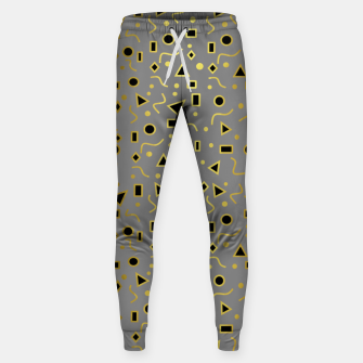 Thumbnail image of Grey And Black Mod Shapes Sweatpants, Live Heroes