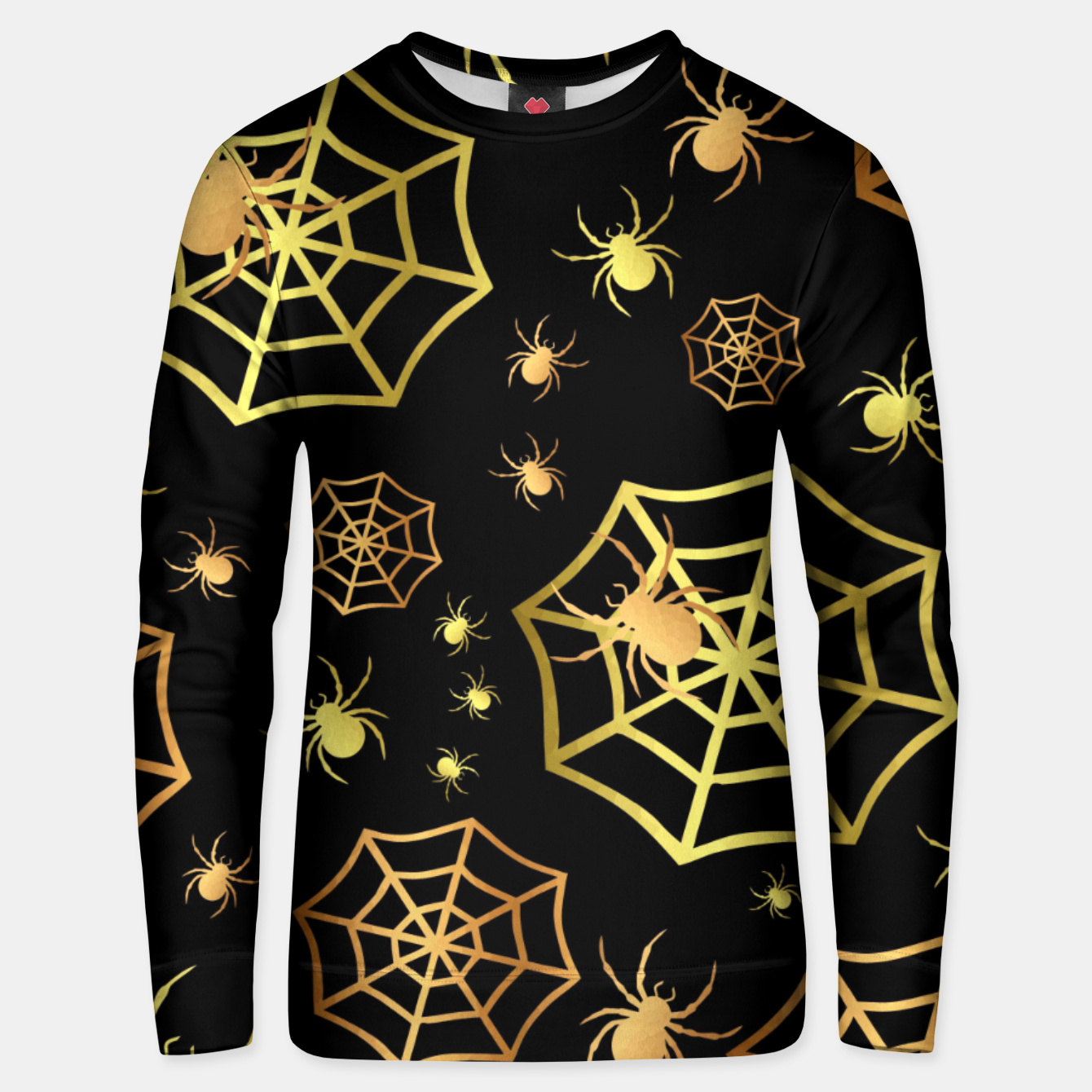 Image of Spiders In Gold Unisex sweater - Live Heroes