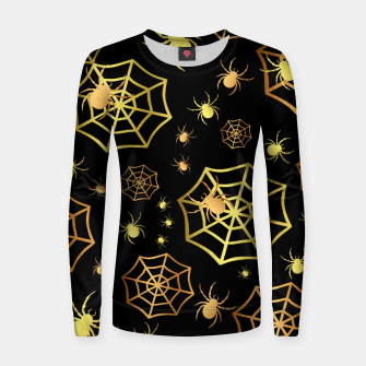 Miniatur Spiders In Gold Women sweater, Live Heroes