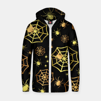 Miniatur Spiders In Gold Zip up hoodie, Live Heroes