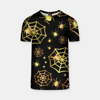 Miniatur Spiders In Gold T-shirt, Live Heroes