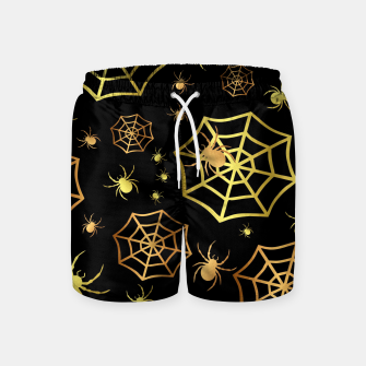 Miniatur Spiders In Gold Swim Shorts, Live Heroes