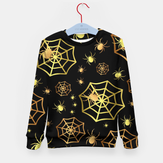 Miniatur Spiders In Gold Kid's sweater, Live Heroes