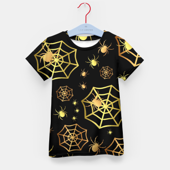 Miniatur Spiders In Gold Kid's t-shirt, Live Heroes