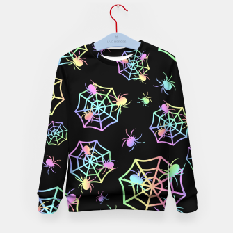 Thumbnail image of Pastel Spider Web Kid's sweater, Live Heroes