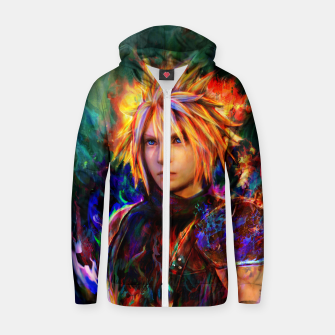 final fantasy vii cloud  Zip up hoodie obraz miniatury