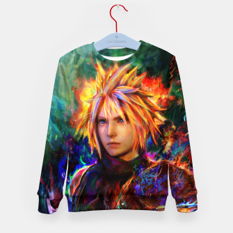 final fantasy vii cloud  Kid's sweater obraz miniatury