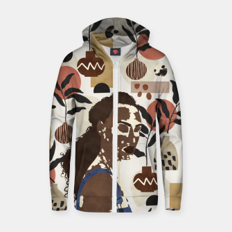 African sentiment Sudadera con capucha y cremallera  thumbnail image