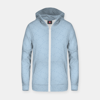 The tracks of winter birds adventures  Zip up hoodie thumbnail image