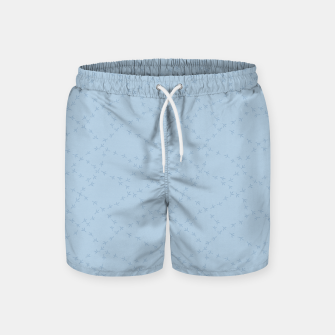 The tracks of winter birds adventures  Swim Shorts thumbnail image