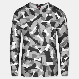 Miniatur Chess Camo URBAN WINTER Unisex sweater, Live Heroes