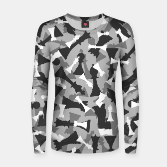 Thumbnail image of Chess Camo URBAN WINTER Women sweater, Live Heroes