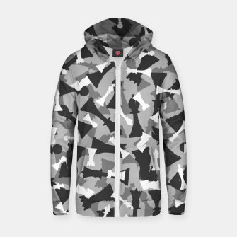 Thumbnail image of Chess Camo URBAN WINTER Zip up hoodie, Live Heroes