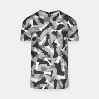 Miniatur Chess Camo URBAN WINTER T-shirt, Live Heroes