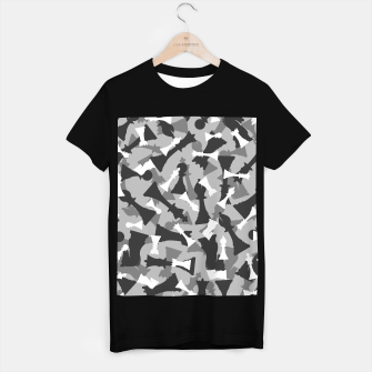 Miniatur Chess Camo URBAN WINTER T-shirt regular, Live Heroes