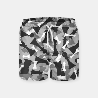 Miniatur Chess Camo URBAN WINTER Swim Shorts, Live Heroes