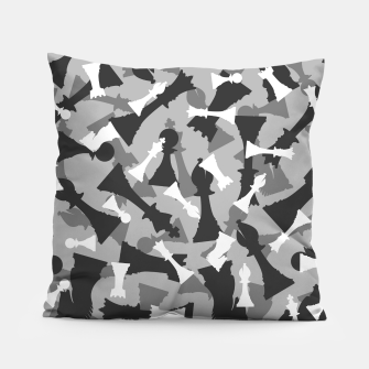 Thumbnail image of Chess Camo URBAN WINTER Pillow, Live Heroes