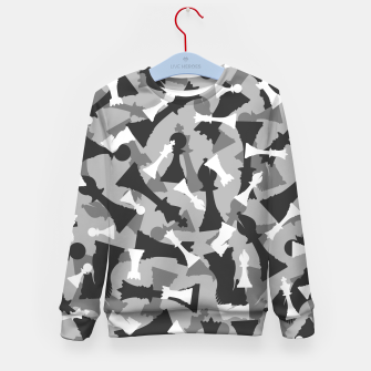 Thumbnail image of Chess Camo URBAN WINTER Kid's sweater, Live Heroes