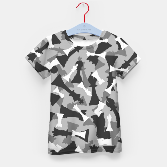 Miniatur Chess Camo URBAN WINTER Kid's t-shirt, Live Heroes