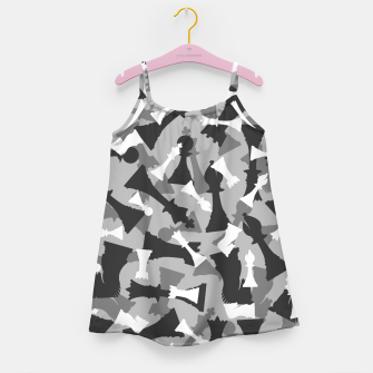 Miniatur Chess Camo URBAN WINTER Girl's dress, Live Heroes
