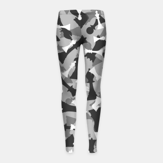 Miniatur Chess Camo URBAN WINTER Girl's leggings, Live Heroes