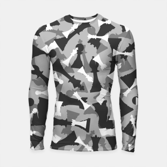 Thumbnail image of Chess Camo URBAN WINTER Longsleeve rashguard , Live Heroes