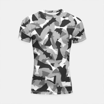 Thumbnail image of Chess Camo URBAN WINTER Shortsleeve rashguard, Live Heroes