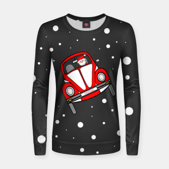 Santas Sleigh Is In The Shop Women sweater thumbnail image