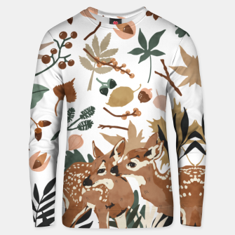 Thumbnail image of Deer cubs nature Sudadera unisex, Live Heroes