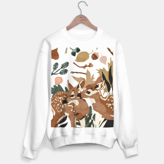 Thumbnail image of Deer cubs nature Sudadera regular, Live Heroes