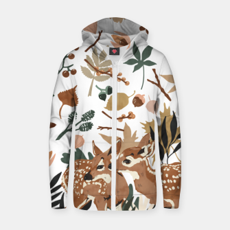 Thumbnail image of Deer cubs nature Sudadera con capucha y cremallera , Live Heroes