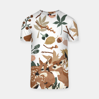 Thumbnail image of Deer cubs nature Camiseta, Live Heroes