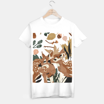 Thumbnail image of Deer cubs nature Camiseta Regular, Live Heroes