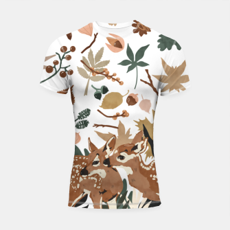 Thumbnail image of Deer cubs nature Shortsleeve rashguard, Live Heroes