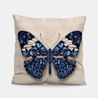 Thumbnail image of Hamadryas Butterfly - watercolor Pillow, Live Heroes