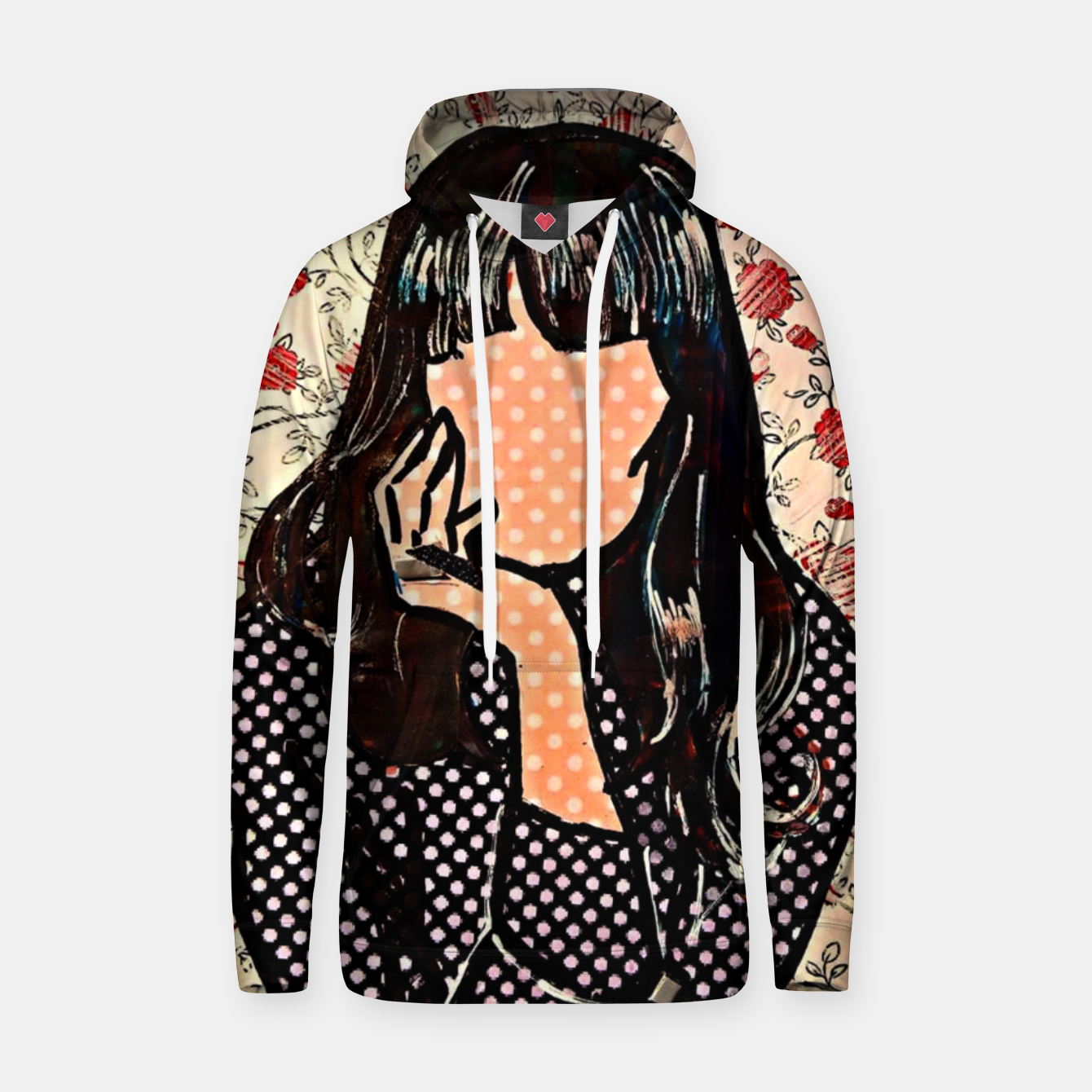 Image of Paola dots celebrity portrait by Yulia A Korneva Hoodie - Live Heroes