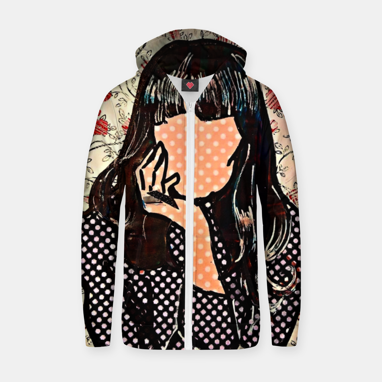 Image of Paola dots celebrity portrait by Yulia A Korneva Zip up hoodie - Live Heroes