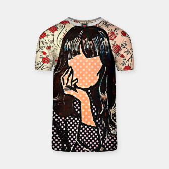 Thumbnail image of Paola dots celebrity portrait by Yulia A Korneva T-shirt, Live Heroes