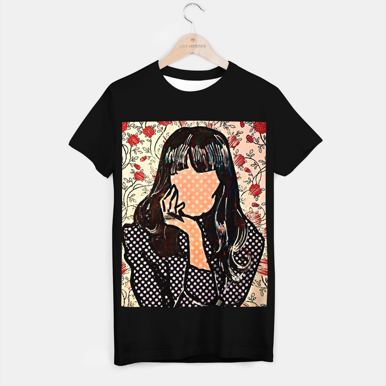 Image of Paola dots celebrity portrait by Yulia A Korneva T-shirt regular - Live Heroes