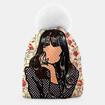 Thumbnail image of Paola dots celebrity portrait by Yulia A Korneva Beanie, Live Heroes