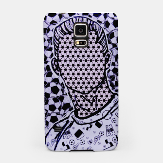 Thumbnail image of Cristiano cr7 Ronaldo dots soccer celebrity portrait by Yulia A Korneva Samsung Case, Live Heroes