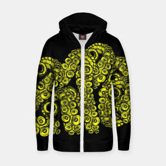 Miniatur Green Tentacles Zip up hoodie, Live Heroes