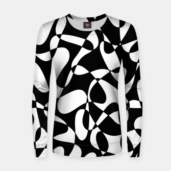 Miniatur Abstract pattern - black and white. Women sweater, Live Heroes