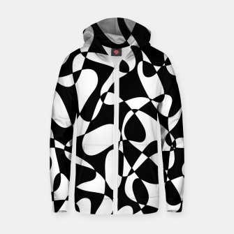 Miniature de image de Abstract pattern - black and white. Zip up hoodie, Live Heroes